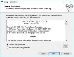 installation gnu coreutils sur windows - étape 2