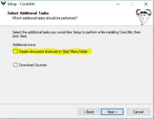 installation gnu coreutils sur windows - étape 6