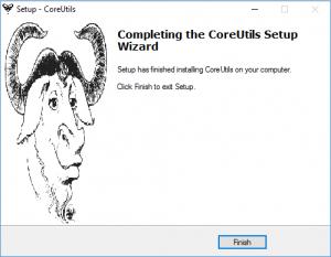 installation gnu coreutils sur windows - étape 8